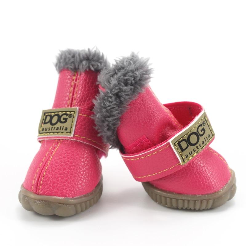 Sepatu Anjing peliharaan Musim Dingin Super Hangat 4 pcs / set Sepatu - Produk hewan peliharaan - Foto 4