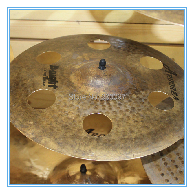 Handmade effect cymbal,Knight  16O-ZONE  CYMBAL fifty shades darker