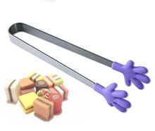 Stylish Cute Silicone Stainless Steel Food Tongs