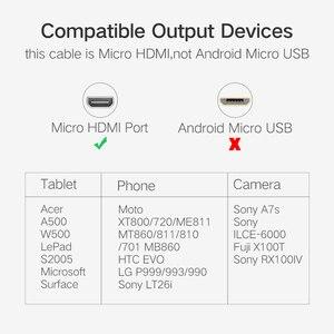 Image 3 - Micro HDMI al Cavo di HDMI Gold Plated 1.4 3D 4K 1080P di Alta Premium Cavo Adattatore per HDTV XBox Tavola Cavo Del Telefono Mobile