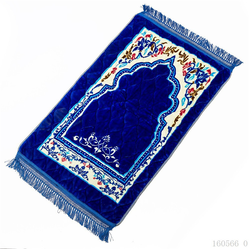 New Super Soft Flannel Islamic Muslim Prayer Mat Blanket Salat Musallah Prayer Rug Carpet Mat Bathroom Tapete Carpet Door Mats