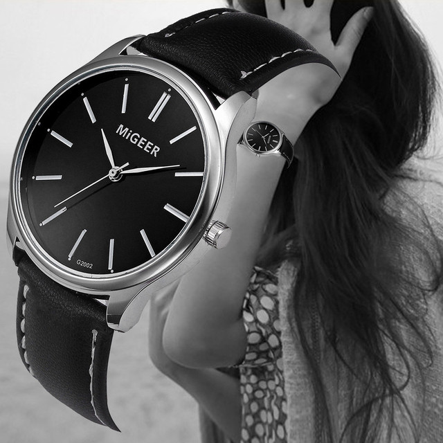 12d43a3d2a0 Relógios baratos Para As Mulheres Marca de Luxo Pulseira de Couro Relógio  de Quartzo Dos Homens