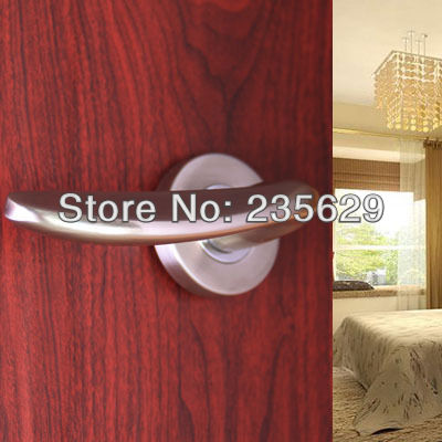dbe011b6381 Envío libre, Hing calidad Candados para puertas de baño, dormitorio puerta  aleación/zinc/solo agujero clave/Matt níquel cepillado