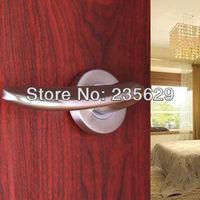 Free Shipping, Hing Quality Locks For Bathroom Door, Bedroom Door / Zinc alloy /Single key hole/ Matt Nickel Brushed