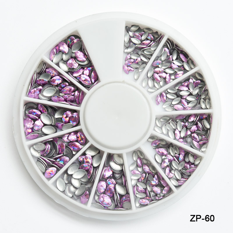 1 Wheels New 3D Laser Nail Rivet Designs Rhinestones for Nail Art Manicure DIY Horse Eye Glitter Studs Nail Gems Studs Sticker in Rhinestones Decorations from Beauty Health