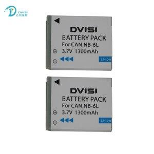 Image 4 - DVISI 3.7V 1.3Ah NB 6L NB6LH Li Ion Batteria Per Canon Power shot SX520 HS SX530 SX600 SX610 SX700 SX710 IXUS 85 95 200 210 105