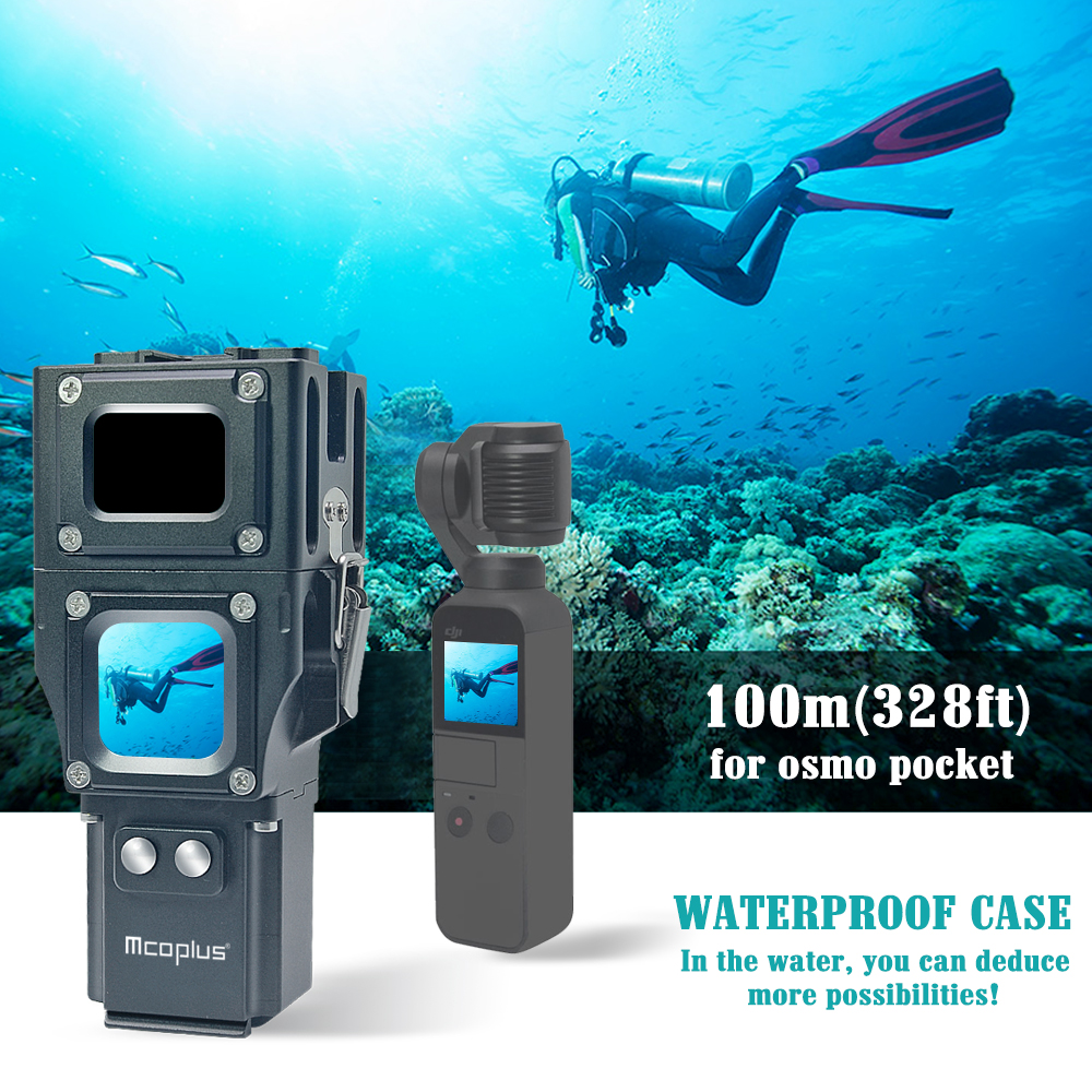 Mcoplus 100m 328ft Underwater Diving Waterproof camera Housing Case for DJI OSMO Pocket 3 Axis Handheld