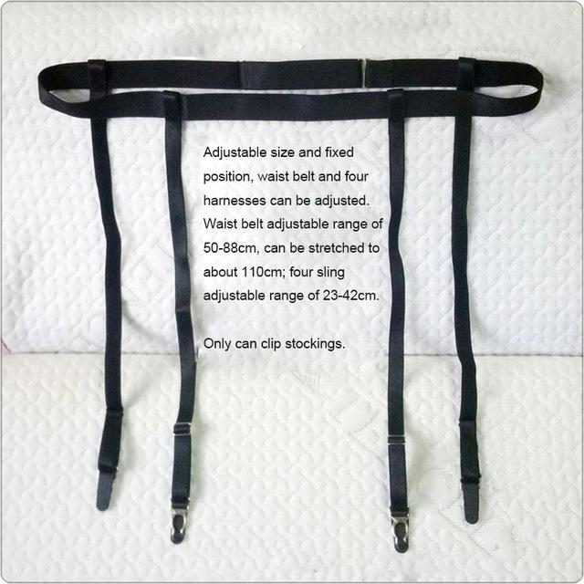 KWAN.Z black waist ring adjustable garter belt