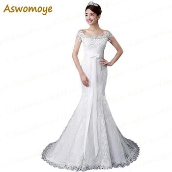 Mermaid Wedding Dress 2018 Beading Bride Dresses Ribbons Bridal Gowns Custom Made Plus Size Vestido De Noiva robe de mariage Wedding Dresses