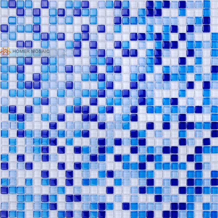 Mini 10x10mm blaue farbe kristallglas kamine fliesen küche ...
