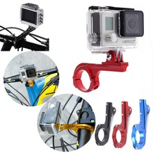 цена на CNC Aluminum Bike Handlebar Mount Bicycle Motorcycle Holder for Gopro Hero 7 5 6 4 3+ SJCAM SJ4000 Xiaoyi 4K Camera Accessories