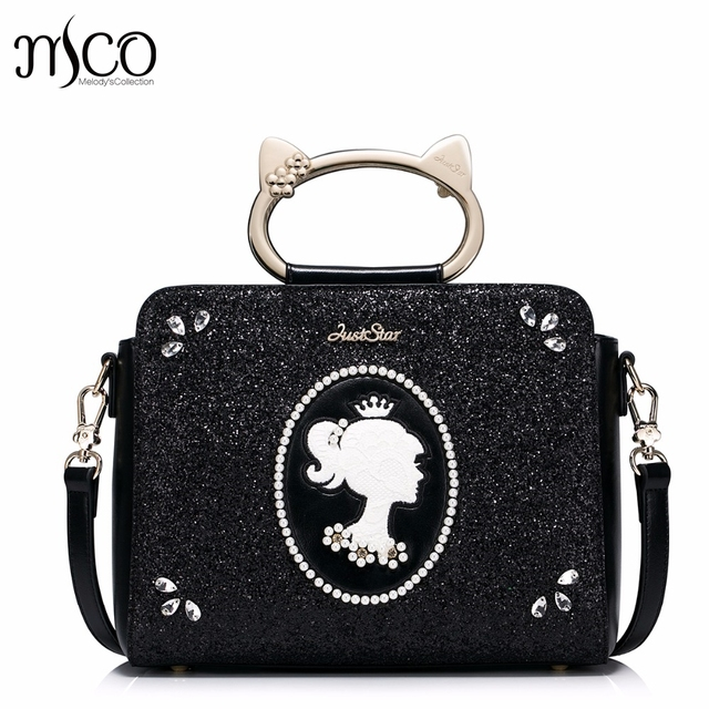 Brand Design Cat Handle Ring Pearls Diamonds Fashion PU Women Leather Girls ladies Ladies Handbag Shoulder Crossbody Bags bolsos