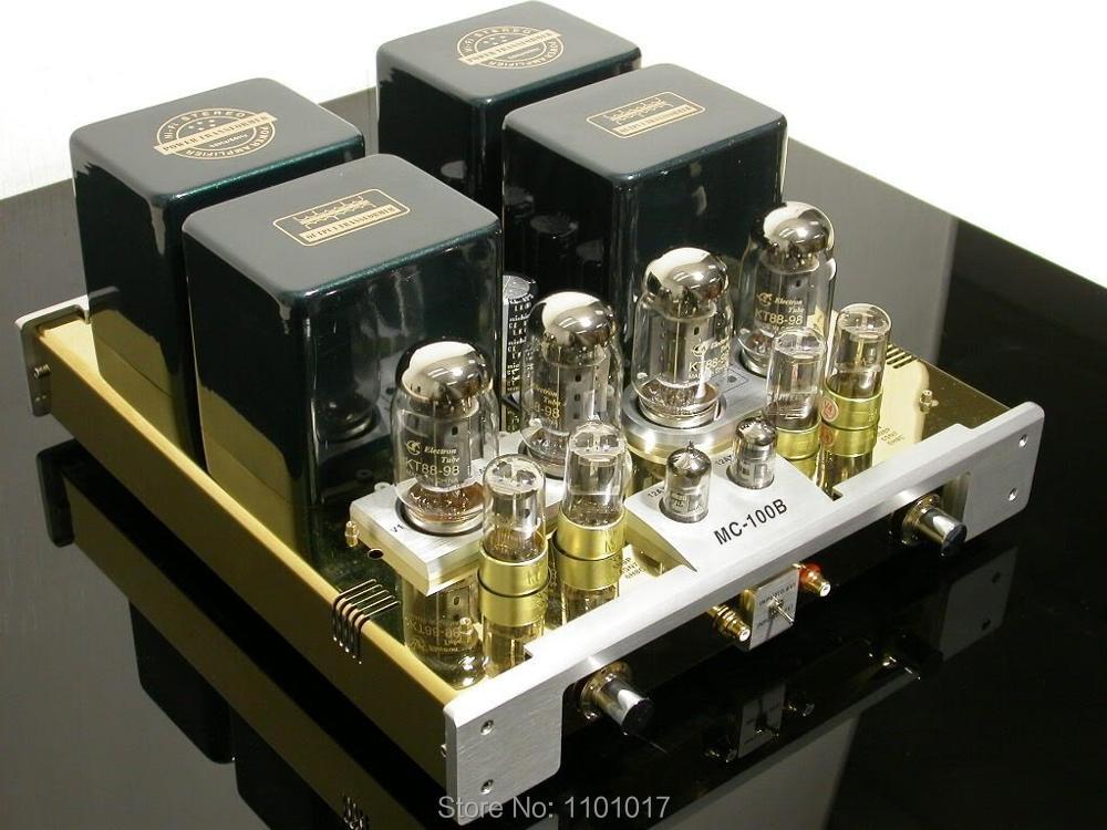 Meilleur YaQin MC-100B KT88 Push-Pull tube amplificateur HIFI exquis 6SN7 12ax7 Lampe AMP MS100B