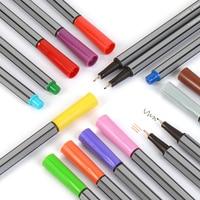 Qualidade 0.4mm fineliner canetas cor fineliners conjunto marcadores marcador colorido caneta arte pintura fina profissional finliner