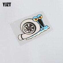 YJZT 11,8 CM * 8CM Cartoon Auto Styling Reflektierende Wasserdichte Lustige Tier Schnecke PVC Auto Aufkleber Aufkleber 13  0057