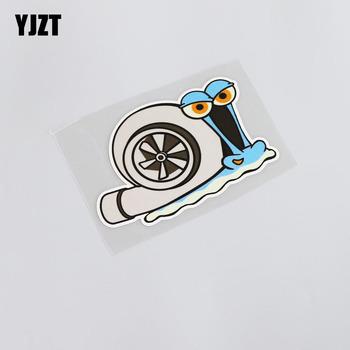 YJZT 11 8CM * 8CM Cartoon Car Styling odblaskowe wodoodporne śmieszne zwierząt ślimak naklejka z pvc na samochód naklejka 13-0057 tanie i dobre opinie Okno Zwierząt wzór Klej naklejki Nie pakowane Karoserii Car Sticker