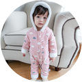 Baby Clothes Boys And Girls Cartoon Cloud moon printing Rompers bebs Long Sleeve Zipper Romper Toddler Cotton Jumpsuit