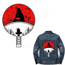 Pop Anime Naruto Ijzer Op Patches Voor Kleding Diy Uchiha Clan Badge T-shirt Jas Hoodie Grade-a Thermische Transfer stickers(China)