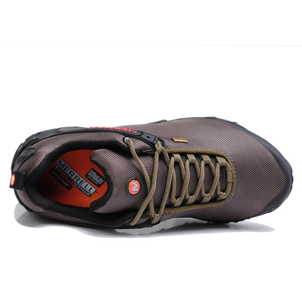 Asli Merrell Pria Bernapas Camping Hiking Sepatu Pria Tahan Air Mendaki  Gunung Perjalanan Olahraga Outdoor Jala Sneakers 39 44 di Hiking Shoes dari  Olahraga ... 238eb29f63
