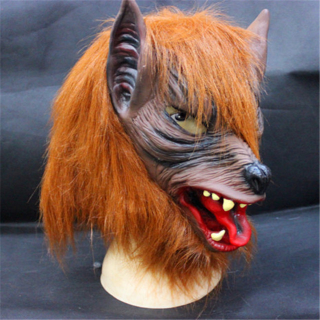 Free shipping New Wolf Mask Creepy Halloween Costume Fur Mane Latex Realistic Horror Devil Masks Masquerade & Free shipping New Wolf Mask Creepy Halloween Costume Fur Mane Latex ...
