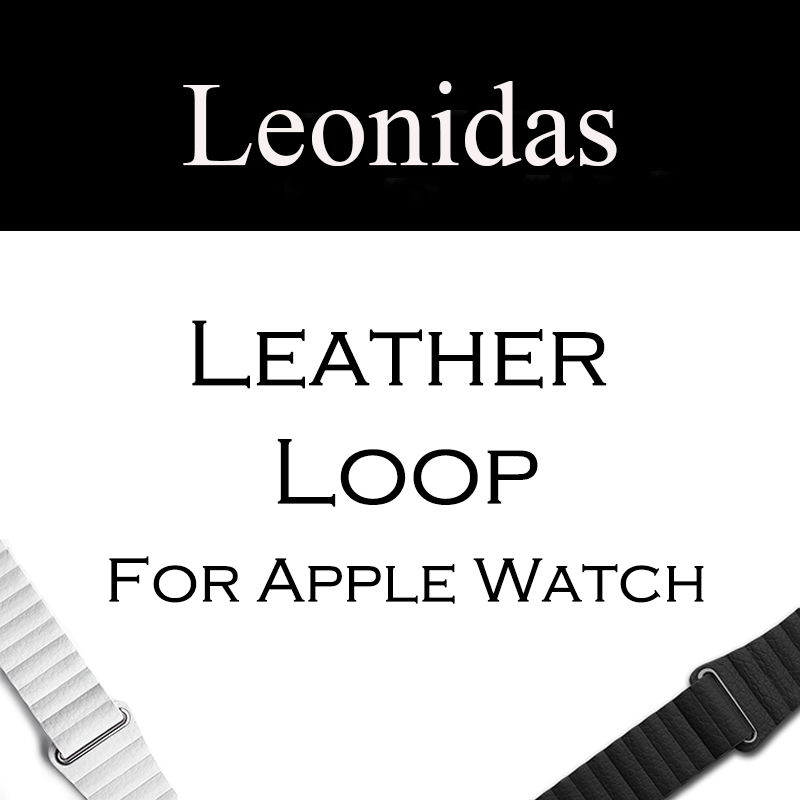 Leather Loop Watch Strap for Apple Watch Band Magnetic Buckle Closure Watch Band for Apple Watch Bands 38mm And 42mm apple watch apple watch magnetic charging cable 2m mjvx2zm a