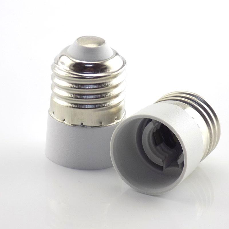 1PCS E27 To E14 Lamp Bulb Holder Converter Male Plug Conversion Fireproof CFL Light Socket Base Adapter Converte For Corn Candle