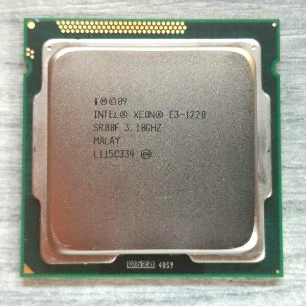 Intel Xeon E3 1220 3.1GHz 5 GT/s Quad-Core CPU Processor SR00F LGA1155
