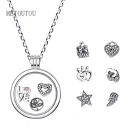 4 Styles New My Coins Necklace Deluxe Clear For 23mm Frame Pendant My Coin European Necklace