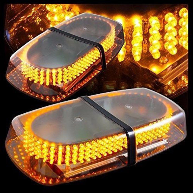 Mayitr DC12V 240 LED Car Vehicle Police Warning Light Amber Light Magnetic Mounted Flashing Strobe Emergency Light Beacon Lamp