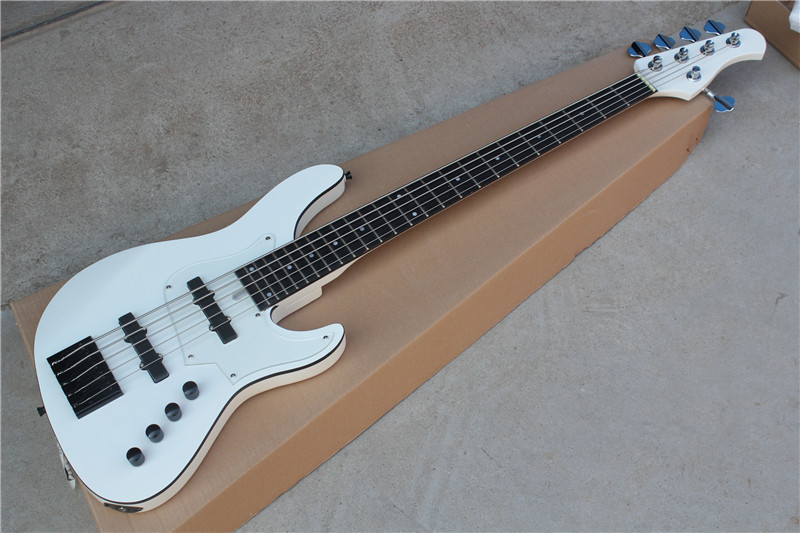free shipping 5 string active pickup system Bass Guitar custom made 5 string electric Bass black 4 string bass humbucker double coil pickup for bass guitar