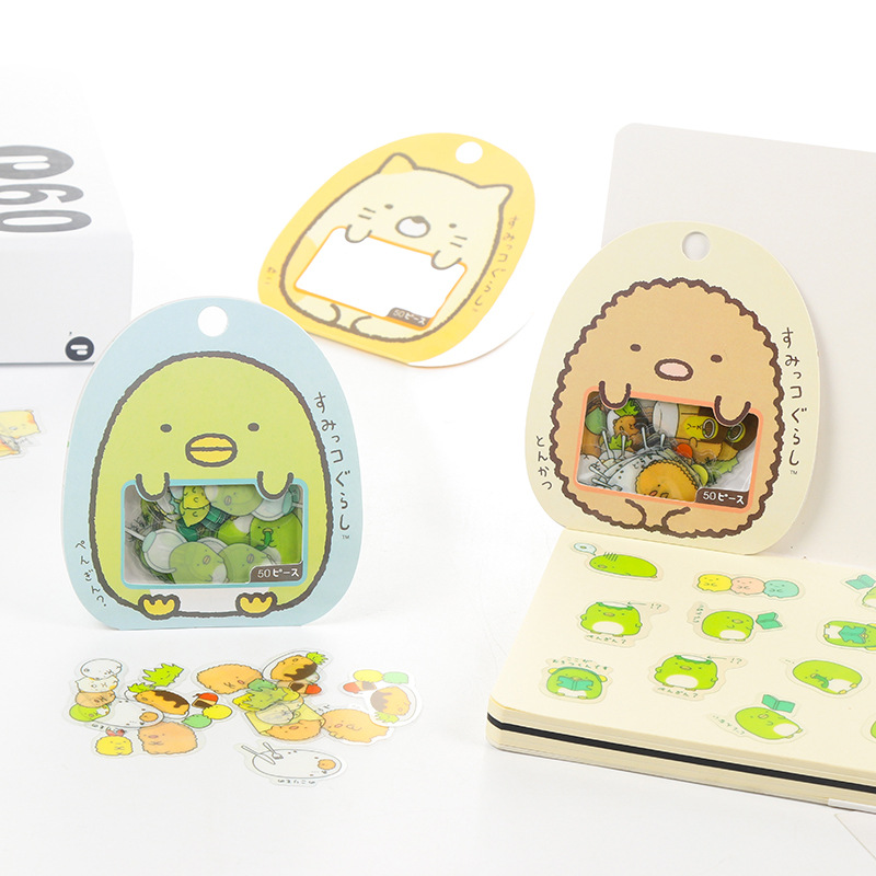 Kawaii Sumikko Gurashi Diary Label Stickers Pack Decorative Mobile PVC Stickers Scrapbooking DIY Stickers Escolar Papelaria