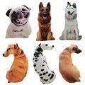 50cm Cute Simulation Dog Plush Toy 3D Printing Stuffed Animal Dog Plush Pillow Stuffed Cartoon Cushion Kids Doll Best Gifts