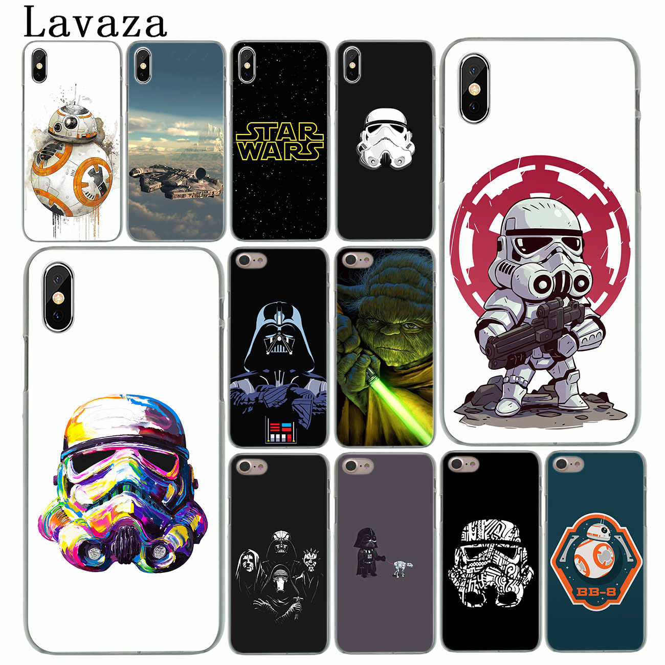 Lavaza Star Wars logo Hard Cover Case for iPhone X XS Max XR 6 6S 7 8 Plus 5 5S SE 5C 4S 10 Phone Cases 7Plus 8Plus