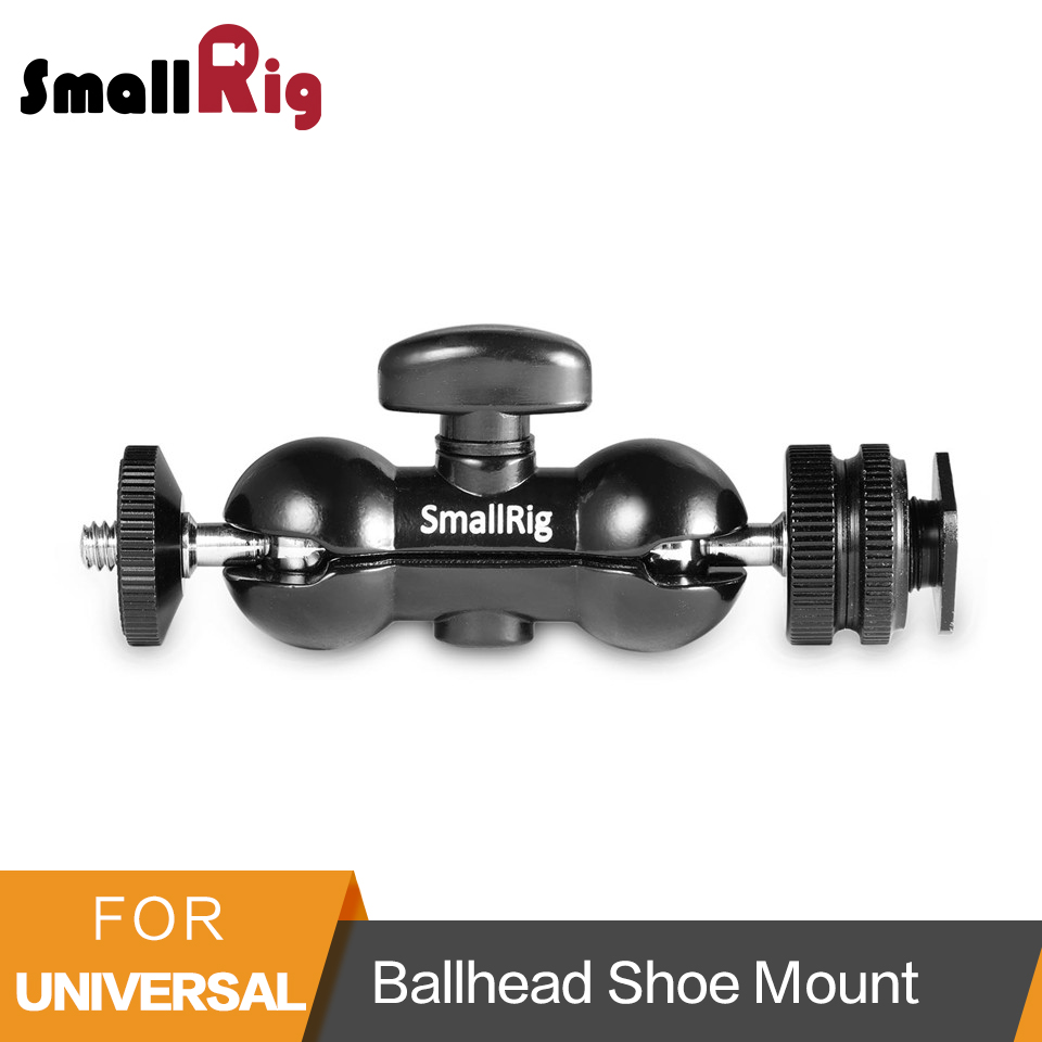 SmallRig Multi-function Double Ball Head Magic Arm with Shoe Mount & 1/4 Screw for Monitors Led Light - 1135