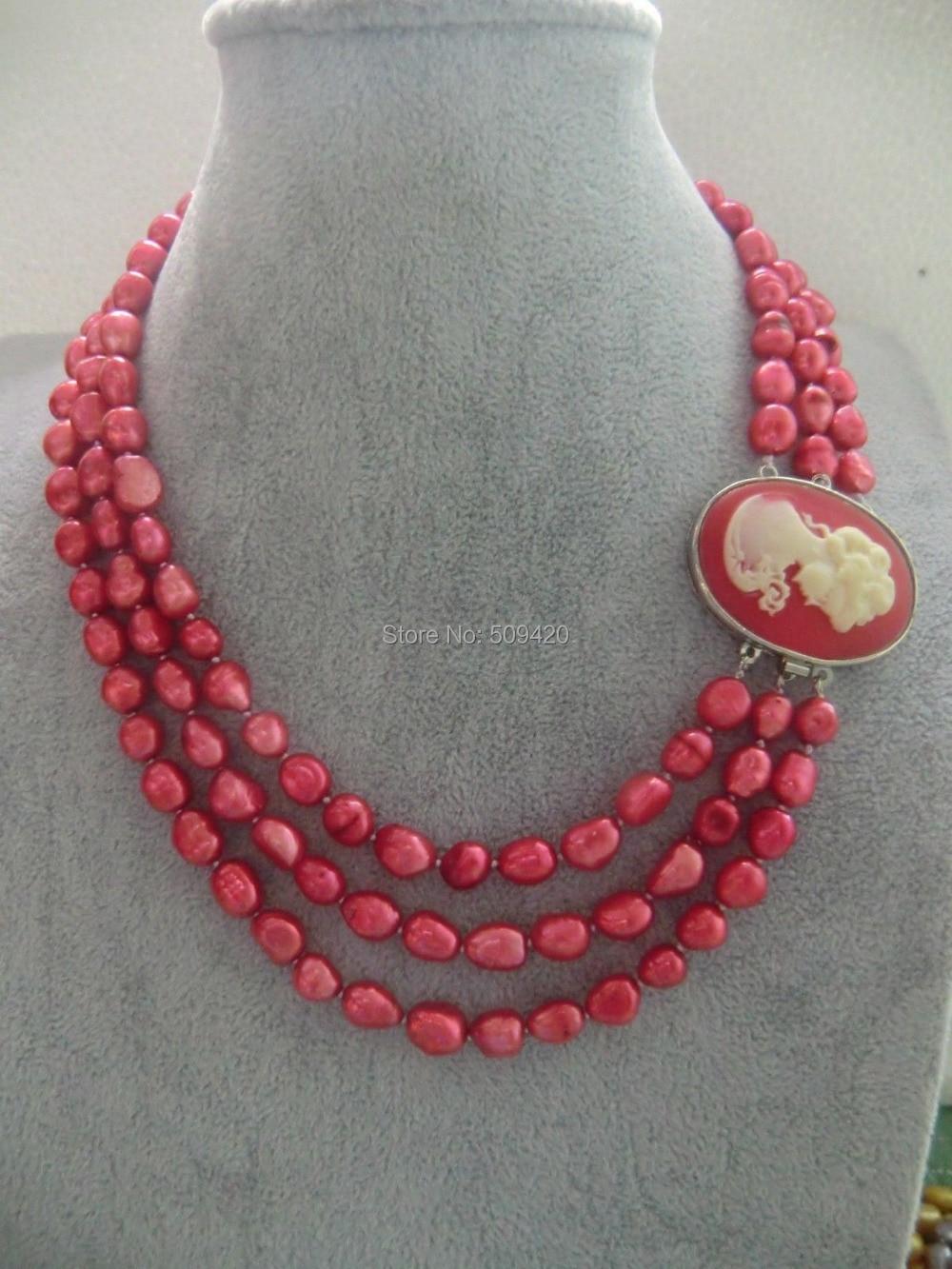 """>> >> > мода очаровательная натуральный розовый коралл ожерелье 17- 1"""""""