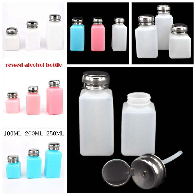 New Products Red, White, Blue Push Alcohol Bottle 100 180 250ML Industrial Corrosion Resistant Anti-Volatilization