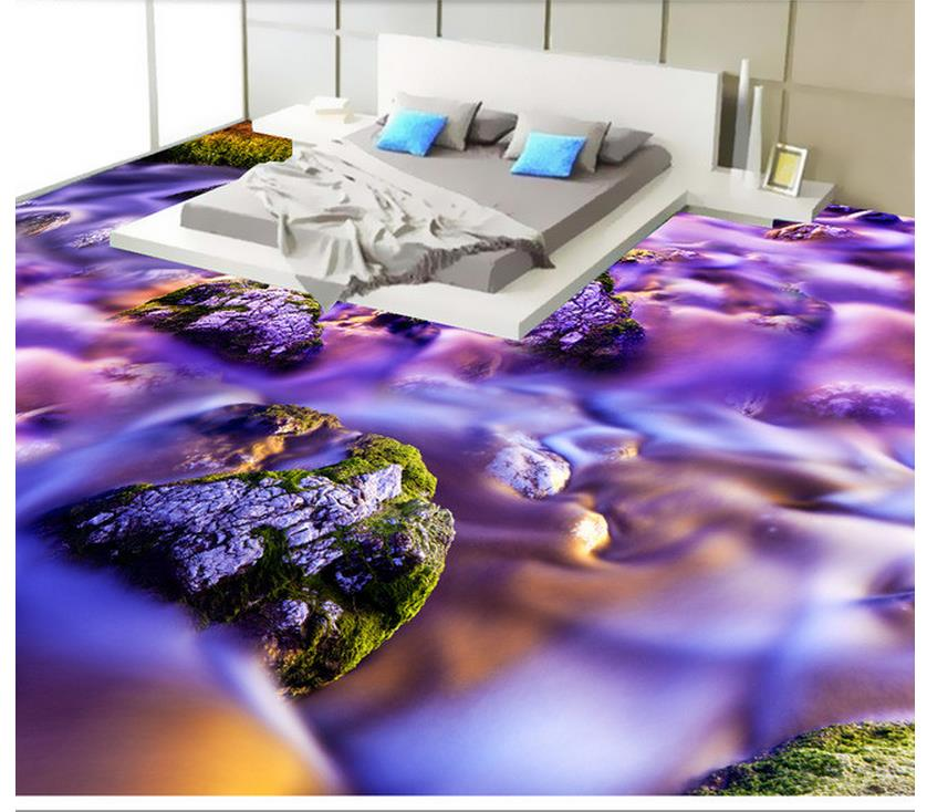 waterproof wallpaper for bathroom 3d Watches and clocks 3D floor pvc self-adhesive wallpaper Home Decoration