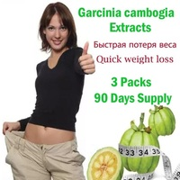 3 Packs Pure Garcinia Cambogia Extracts Nature Slim Better Reduce Diet Fast Weight Lost Curbs