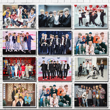 kpop bangtan boys Poster Clear Image Wall Stickers Home Decoration Good Quality Prints White Kraft Paper home art Brand