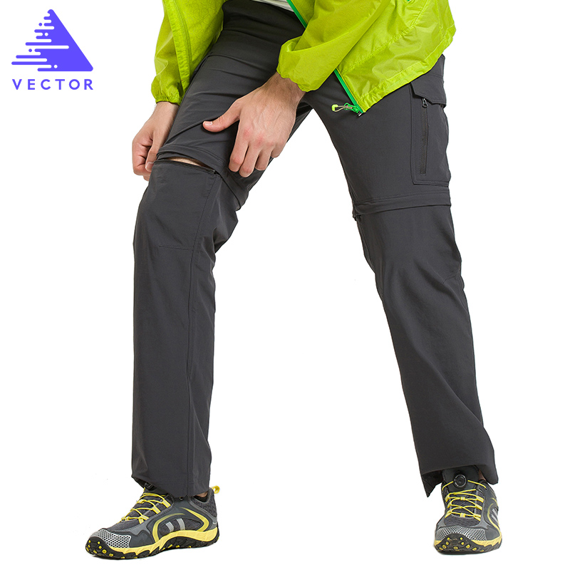 VECTOR Quick Dry Pants Men Summer Breathable Camping Hiking Trousers Removable Trekking Hunting Hiking Pants 50021 naturehike 2016 quick dry sport pants for men sportwear removable design durable hiking running men clothing s m l xl xxl xxxl