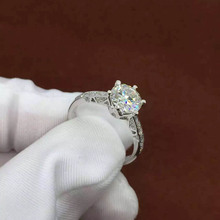 1 Carat ct Forever One DEF Color Engagement&Wedding Ring With Natural Dia mond Accents Solid 14 K 585 Gold