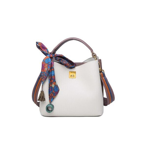 All-Match Bucket Bag Pu Leather One Shoulder Cross-Body Women\'S Handbag Girl\'S Bag Ki16856a