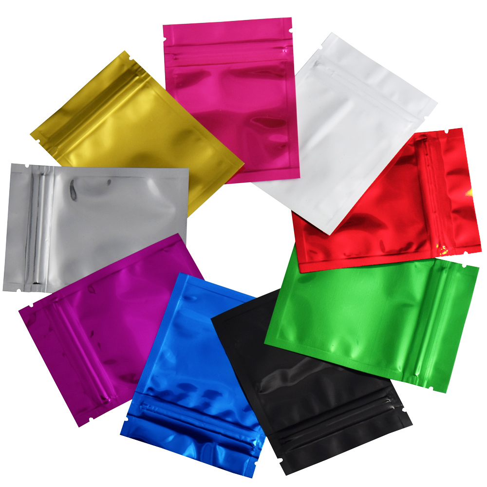 1000 Silve//Clear 4x6.5 Aluminum Foil Pouches Mylar Zip Bags Smell Proof 5.5 mil