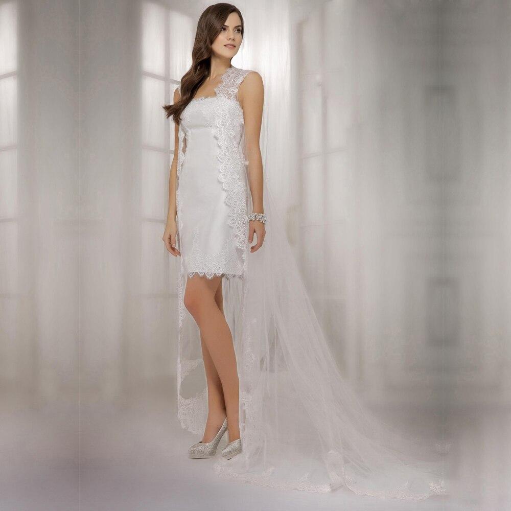 Sexy Backless Lace Sheath Wedding Dresses 2017 New Fashion