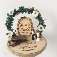 1pcs Unique birthday anniversary engagement party decoration personalised wooden flower custom ring box wedding