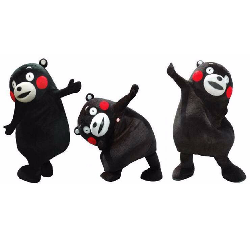 Hot adulte taille japon Kumamon ours mascotte Costume Animal ours dessin animé vacances fantaisie robe Halloween noël fête d'anniversaire Costume