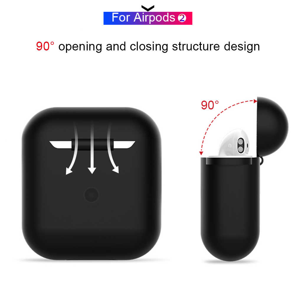 سماعة سيليكون الحال بالنسبة Airpods الجلد كم الحقيبة صندوق حامي سماعة رأس لاسلكية الغطاء الواقي ل Airpods 2 1 الهواء القرون