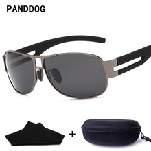 PANDDOG Outdoor Driving Aviator Sunglasses Alloy Frame Polarized Sunglasses Women Brand Designer Glasses Case And Cloth LHJF8459