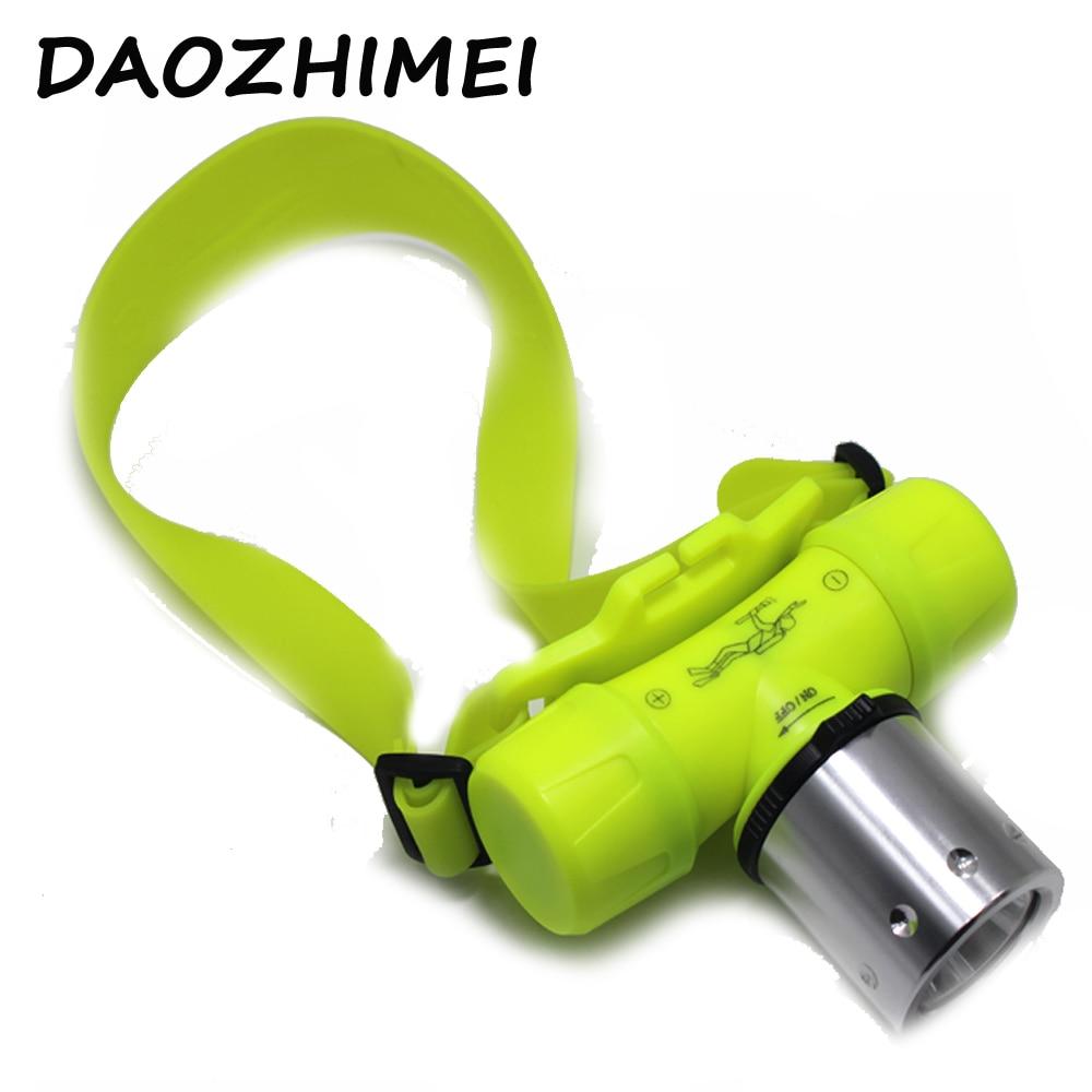 Diving Headlamp XML- T6 LED Underwater Diving Headlight 3800 Lumen 10w Dive Flashlight Head Light Torch + battery/Charger/box fenix hp25r 1000 lumen headlamp rechargeable led flashlight