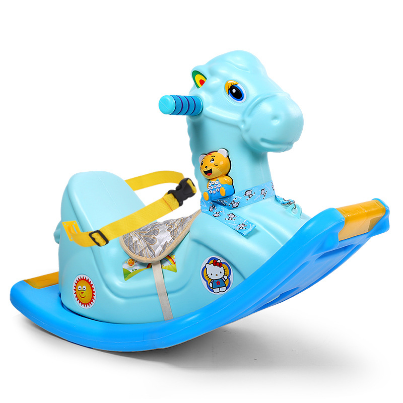 Baby Rocking Horse Children Ride on Animal Toys with Music Baby Rocking Chair Plastic Music Rocker Car Kids Ride on Toys 5M 6Y